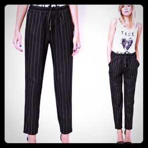 ASOS Soft Touch Pinstripe Black Trousers NWT-12